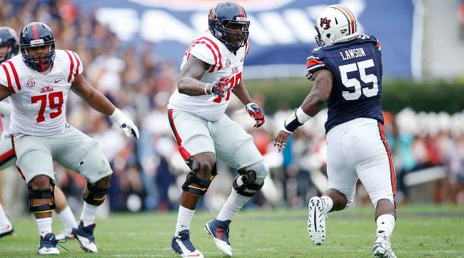 Laremy Tunsil is the top tackle prospect in the draft after dominating SEC pass-rushers during his career at Ole Miss.